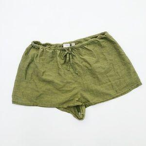 VS Victorias Secret Green Cotton Shorts Size S